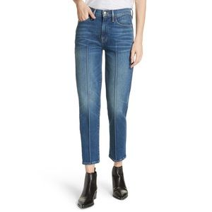 FRAME Le High Straight Pintucked Jeans in Boylston